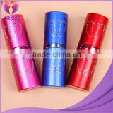 Wholesale leak proof black red coated 20ml aluminium perfume bottle travel spray aluminium atomizer