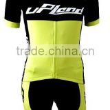 Manufacturer of fluorescent green cycling jerseys Breathable perspiration silicone pad cycling shorts