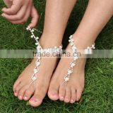 fancy anklet pearl rhinestone bridal wedding sandals