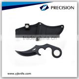 "M-tech 8"" Fixed Blade CS Knife Karambit with nylon pouch"