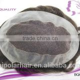Factory wholesale cheap price 100% human hair swiss lace french lace good popular style men toupee