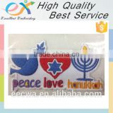 customized embroidered self adhesive fabric patch