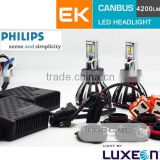USA imported chips lumileds brighter led 60W auto led h4 headlight