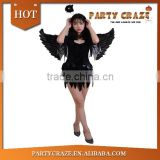Adult women black angel and devil costumes