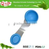 FDA Approval Red Hot Selling Promotional Flexible Silicone Measuring Spoon With Stainless Steel Connection