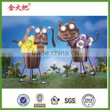 Solar Lighted Eyes Pet Metal Garden Planter