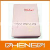 Hot!!! 2014 New Product Book Shape Elegant Opening Ladies Favor Printing Packaging Paper Gift Box(ZDC14-014)