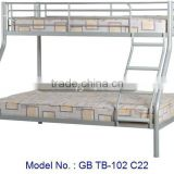 Metal Double Decker Bed With Classic Design, malaysia bedroom furniture, adult bunk bed, metal bed in white, double bunk bed