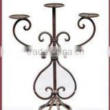 metal candle holdre crafts wrought iron tealight holder stand, wholesale antique candelabras centerpieces with flower bowl