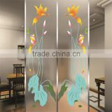 high quality hot selling design pattern door glass factory manufacturer