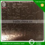 304 hairline etched red bronze/green bronze anti-finger stainless steel sheets for decoration