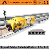 lightweight precast concrete hollow core slab molding machine; prestressed hollow core wall panel extruder
