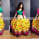 Navratri chaniya choli Mluti colour Designer Indian Lehenga Choli for Garba