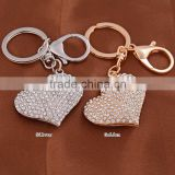 Heart Diamond Ring Key Chains Wedding Favors Handbag Bag Decoration