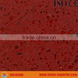 Kitchen countertop quartz stone red color