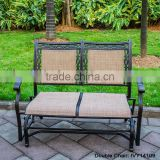 Porch sling Aluminum Loveseat Glider/double gliader metal garden chair/cast aluminum chair