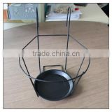 Hanging metal Plant Holder with black powder coating