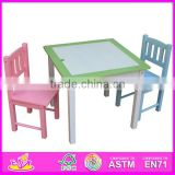 Hot new product for 2015 dining table and chair,Fashion wooden table and chair set,High quality dining table and chair W08G104