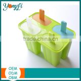 Silicone Ice Pop Molds [Set of 3] with Perfect Popsicle Holder-Ice Pop Maker Set