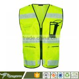Yellow safety vest fabric reflective stripes for clothing