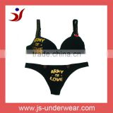 js-9 lovely smart girls sexy black bra and panty set