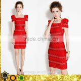 2015 new arrival beaded wholesale cheap bandage dress