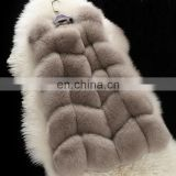Promotional price wholesale fox fur vest/waistcoat long pattern