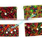 Indian Banjara Clutch ethnic Bags Purse Vintage Tribal Banjara clutch kutch embroidery Handmade Designer