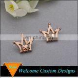 China wholesale popular simple rose gold men's crown brooch