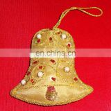 Bell Shape Christmas Hanging Ornament Hand Embroidered