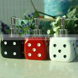2014 the new product ceramic shower gel bottle with dice shape