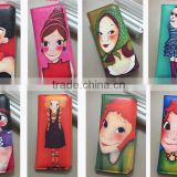 Mixed color and Designs popular and Fashional Student Wallet and purse Giraffi And Necklace earrings Glasses decorated