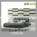 scihome home cheap modern grey leather bedroom furniture set for adults