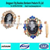 European Fancy Queen Head Portrait Pin Brooch Wholesale