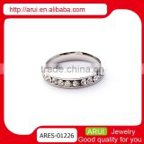 Best selling valentine gifts beautiful silver pave diamond thin rings