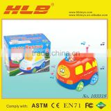 B/O cartoon car with music&light/voice control electric car 103318