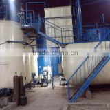 automatic used plastic oil refining unit waste oil recycling machine used tire oil distillation system