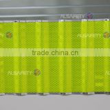 fluorescent yellow-green high intensity prisamtic reflective sheet-Linear anti-fog reflector from anhui alsafety