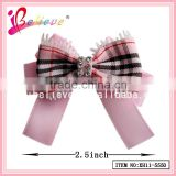 "2.5"" cheerleading bows wholesale ribbon bow for girls,cheerleading accessories with clip"
