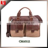 2014 fashional laptop bag Briefcase Wholesale with bag factory promotional laptop leather bag for men