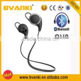 2016 new QY8 wireless bluetooth earphone for iphone 6s 6s 5s 5 CSR chips QCY QY8 mobile phone sport earphone free samples