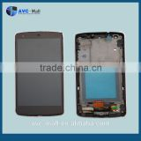 china supplier LCD display and touch assembly with frame for LG Nexus 5 D820/D821 balck