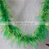 "Ostrich Feather Fabric 3 ply Mix Colors 72"" For Cheap Feather Boa Weddings Decoration"
