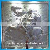 Artistic design stone wall sculpture