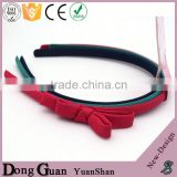 2016 new design factory directly wholesale flower hair band woolen yarn elastic band/ponytail holder korean bows