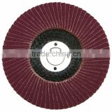 "aluminum oxide 4"" flap disc with fibreglass for polishing stainless steel and metal"