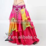 china alibaba chiffon Long black chiffon belly dance skirt