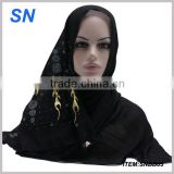 hot fix rhinestone hijab scarf