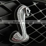 silver gold 3D Cobra logo, chrome Cobra car sticker                                                                         Quality Choice