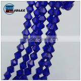 New arrival blue crystal beads high quality 6mm alibaba beads faceted bicone glass beads for jewelry sets